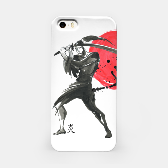 Thumbnail image of Silhouette Samurai. Chinese style, Japanese style, Watercolor hand painting illustration. Traditional oriental ink painting sumi-e iPhone Case, Live Heroes