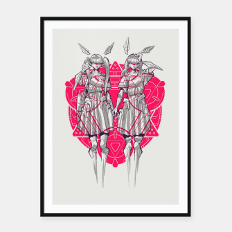 Thumbnail image of twin cyborg 2 Framed poster, Live Heroes