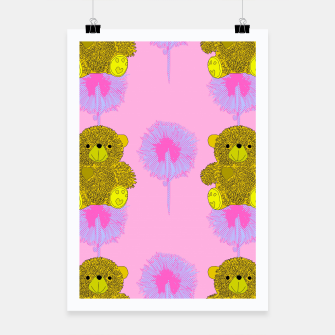 Thumbnail image of Teddy Bear Print Poster, Live Heroes