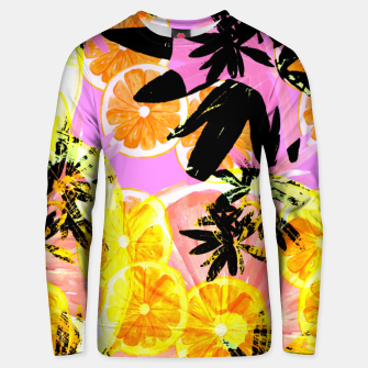 Thumbnail image of Leafy Orange Print Cotton sweater, Live Heroes