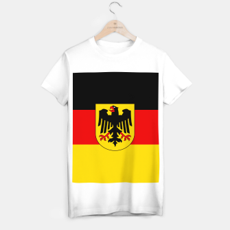 Miniatur Black Red and Yellow German Flag  T-shirt regular, Live Heroes