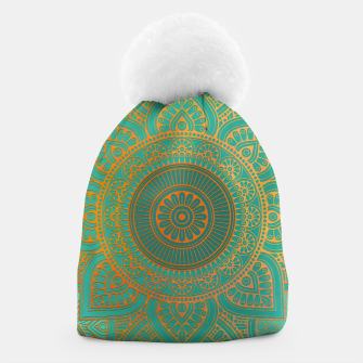 "Miniaturka ""Sea Turquoise Pattern Mandala Teal Gold"" Gorro, Live Heroes"