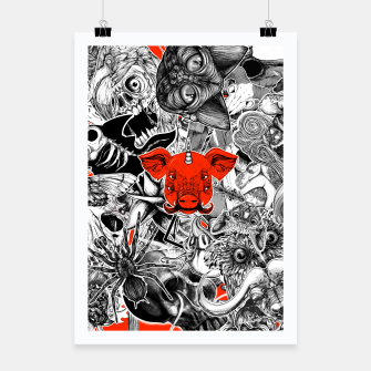 Thumbnail image of Stickers Poster, Live Heroes