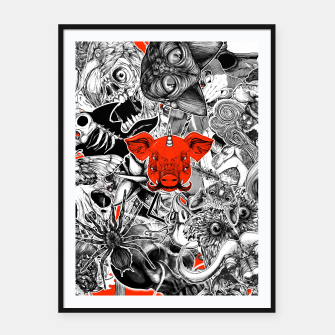 Thumbnail image of Stickers Framed poster, Live Heroes