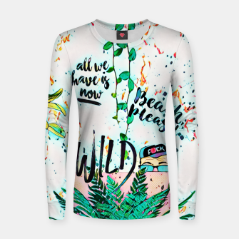 Thumbnail image of Wild Woman cotton sweater, Live Heroes