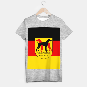 Miniatur Weimaraner Republik -  Germany Home of the Grey Ghost Dog T-shirt regular, Live Heroes