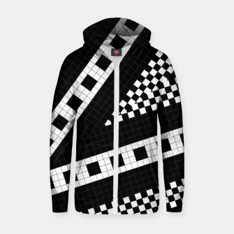 Thumbnail image of Subway Plaid Geometrics RR90 Cotton zip up hoodie, Live Heroes