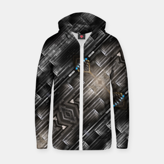 Thumbnail image of Mech Frac Core Cotton zip up hoodie, Live Heroes