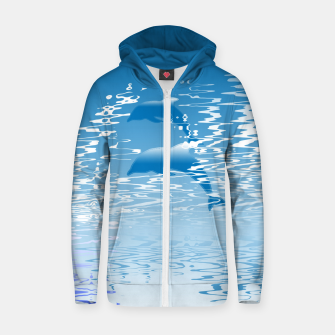 Surfing the Waves Cotton zip up hoodie miniature