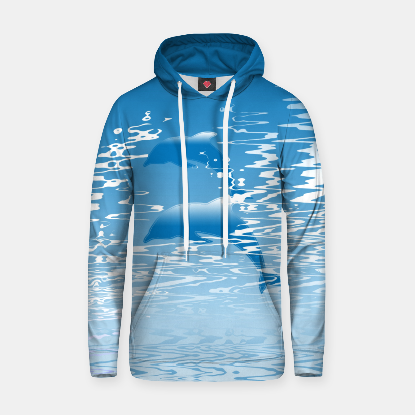 Image de Surfing the Waves Cotton hoodie - Live Heroes