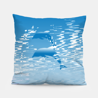 Surfing the Waves Pillow miniature