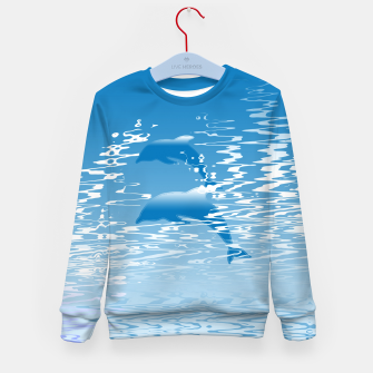 Surfing the Waves Kid's sweater miniature