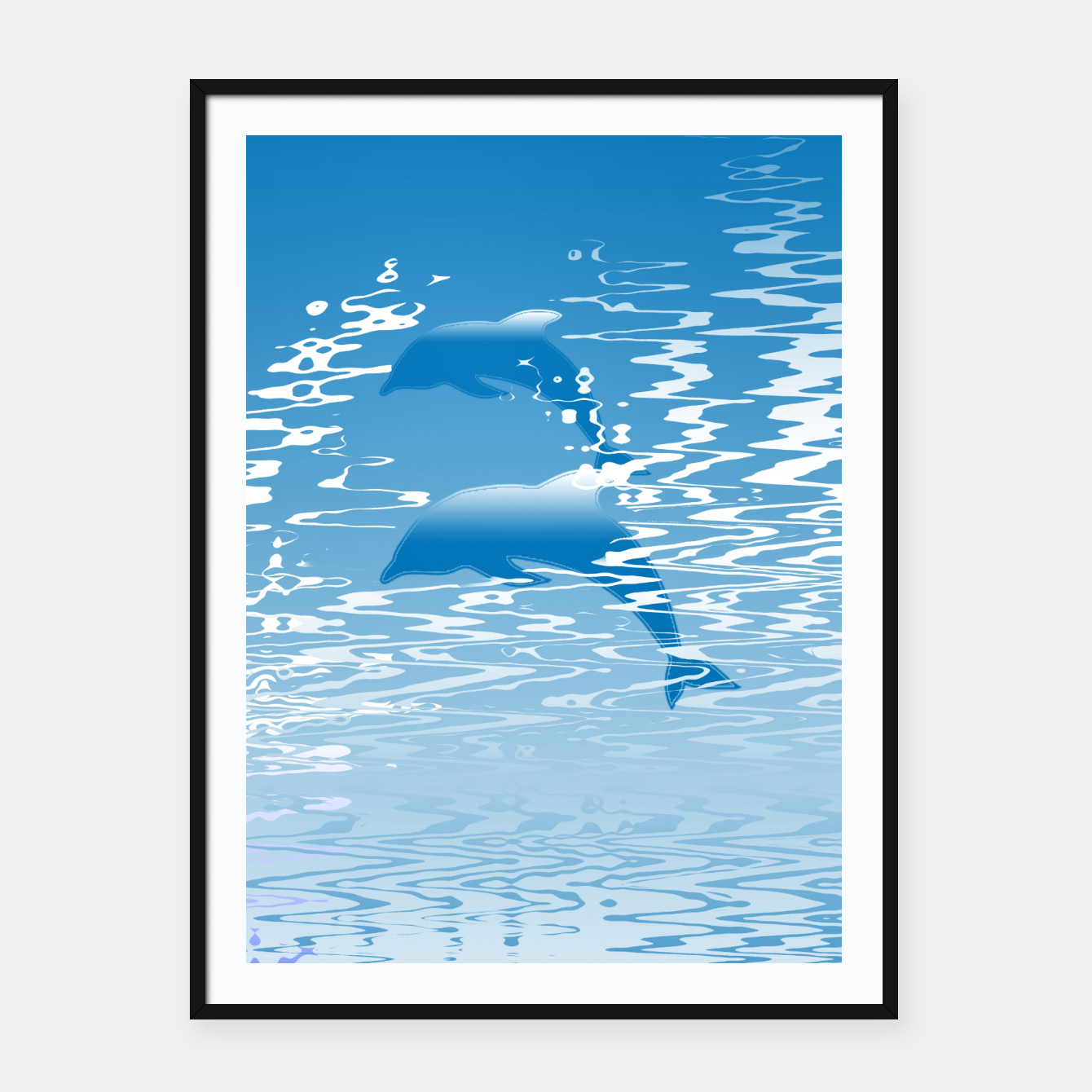 Surfing the Waves Framed poster, Live Heroes