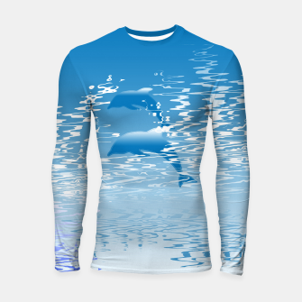 Surfing the Waves Longsleeve rashguard  miniature