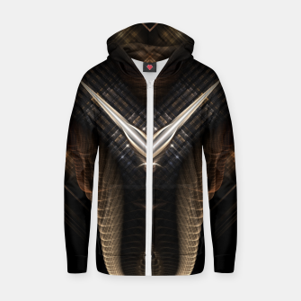 Thumbnail image of The Golden V Cotton zip up hoodie, Live Heroes