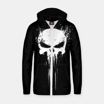 Thumbnail image of punisher Cotton zip up hoodie, Live Heroes