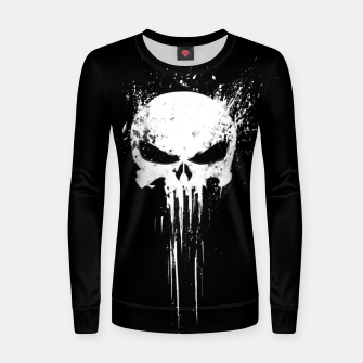 Thumbnail image of punisher Woman cotton sweater, Live Heroes