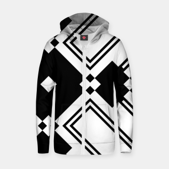 Thumbnail image of Sticks & Squares Cotton zip up hoodie, Live Heroes