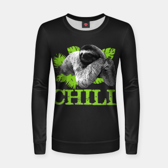 Miniatur Funny Sloth - Chill Woman cotton sweater, Live Heroes