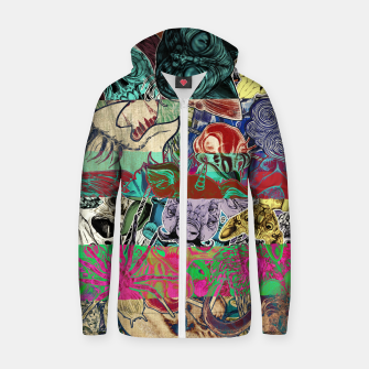 Thumbnail image of Color Stickers Cotton zip up hoodie, Live Heroes