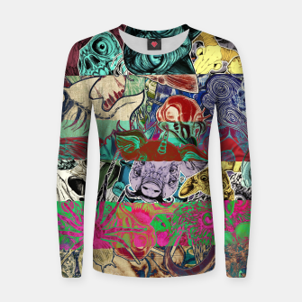 Thumbnail image of Color Stickers Woman cotton sweater, Live Heroes