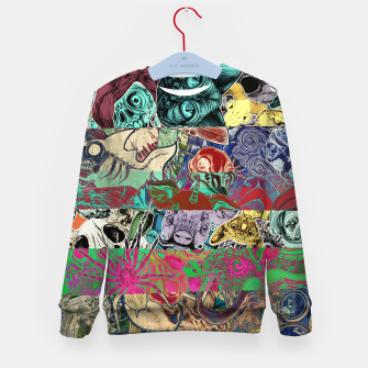 Thumbnail image of Color Stickers Kid's sweater, Live Heroes