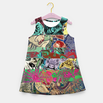 Thumbnail image of Color Stickers Girl's summer dress, Live Heroes