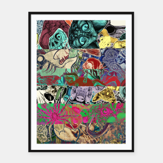 Thumbnail image of Color Stickers Framed poster, Live Heroes