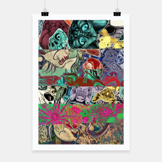 Thumbnail image of Color Stickers Poster, Live Heroes