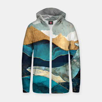Thumbnail image of Blue Whale Cotton zip up hoodie, Live Heroes