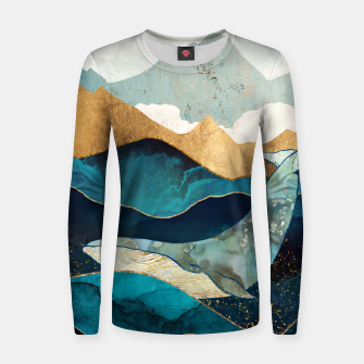 Thumbnail image of Blue Whale Woman cotton sweater, Live Heroes