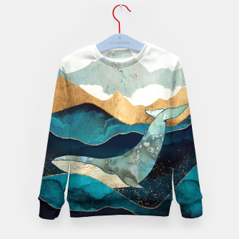 Thumbnail image of Blue Whale Kid's sweater, Live Heroes