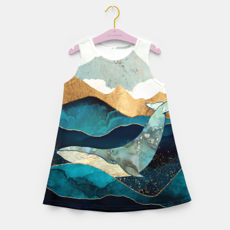 Thumbnail image of Blue Whale Girl's summer dress, Live Heroes