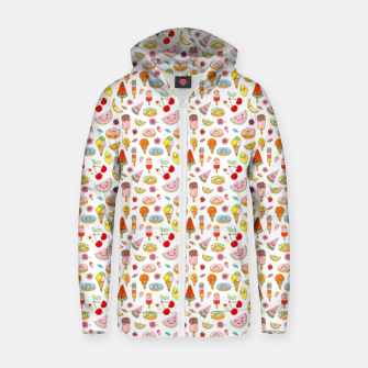 Thumbnail image of Donuts and Ice Cream –  Cotton zip up hoodie, Live Heroes