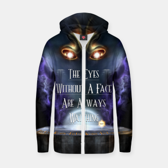 Thumbnail image of Eyes Without A Face ROO Cotton zip up hoodie, Live Heroes