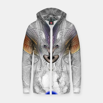 Thumbnail image of Taidushan Sai Faux Painting Cotton zip up hoodie, Live Heroes