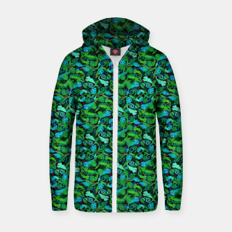 Chameleons in the Forest – Cotton zip up hoodie thumbnail image