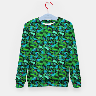 Thumbnail image of Chameleons in the Forest – Kid's sweater, Live Heroes