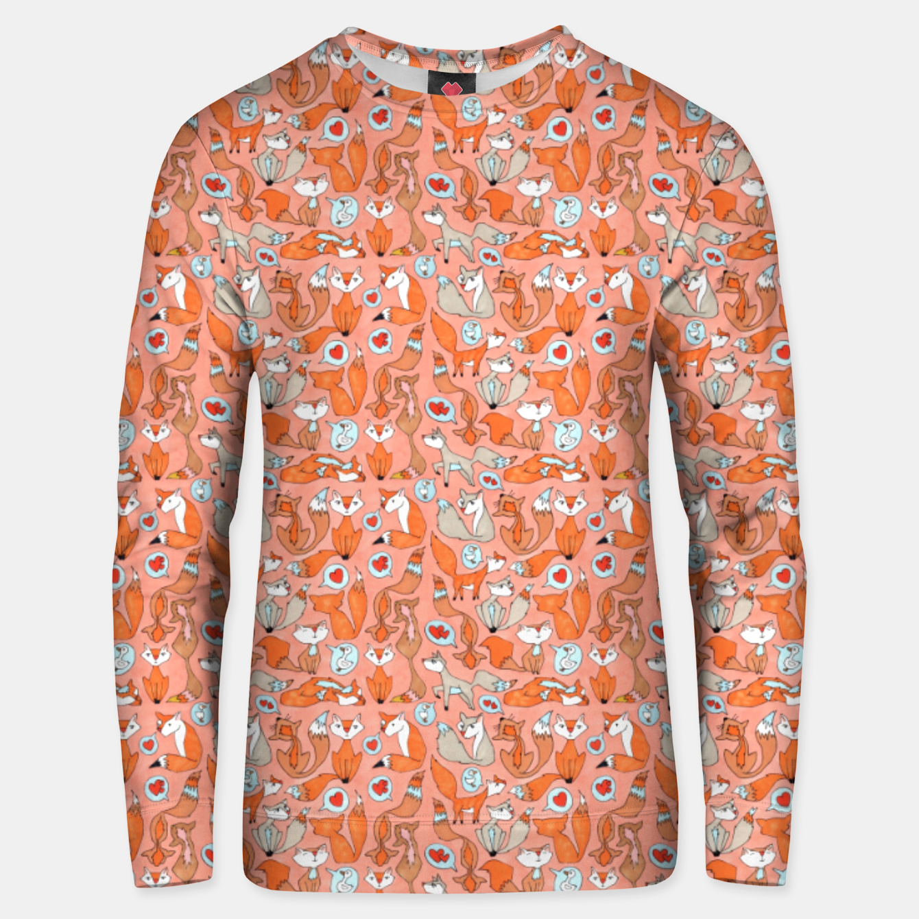 Image of Foxes in Love Cotton sweater - Live Heroes