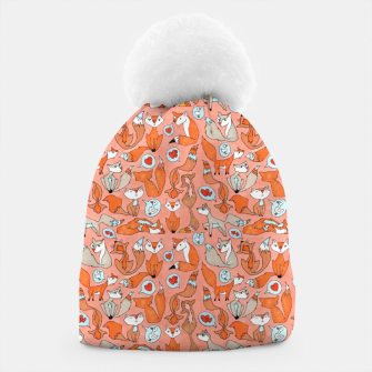 Foxes in Love Beanie thumbnail image
