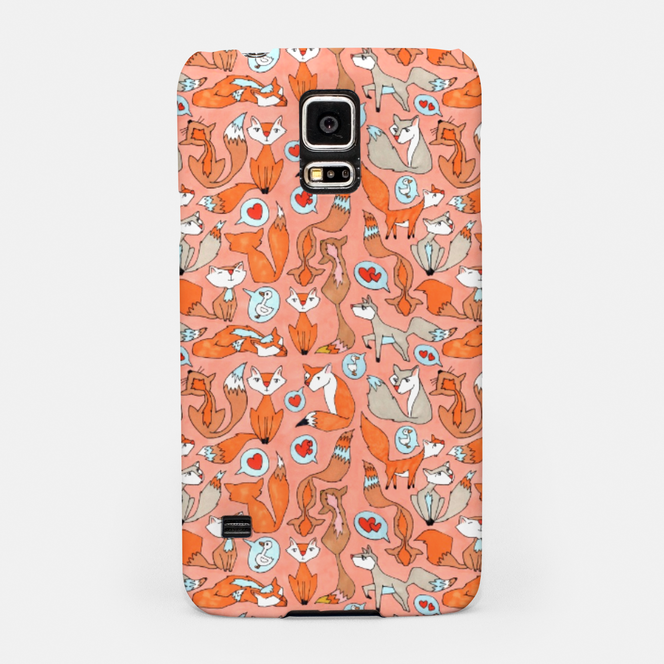 Image of Foxes in Love Samsung Case - Live Heroes