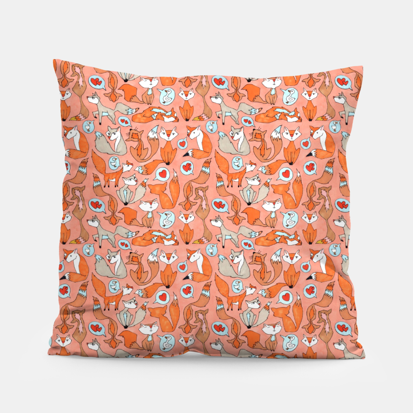 Image of Foxes in Love Pillow - Live Heroes