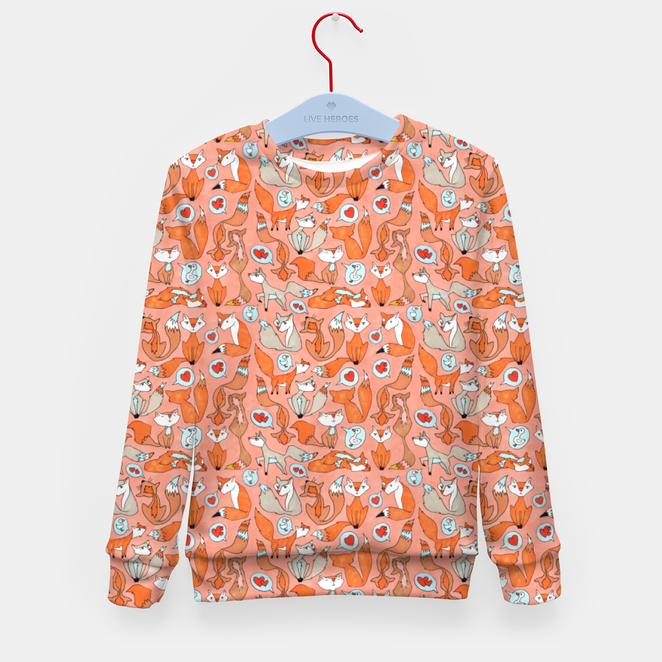 Image of Foxes in Love Kid's sweater - Live Heroes