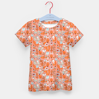 Thumbnail image of Foxes in Love Kid's t-shirt, Live Heroes