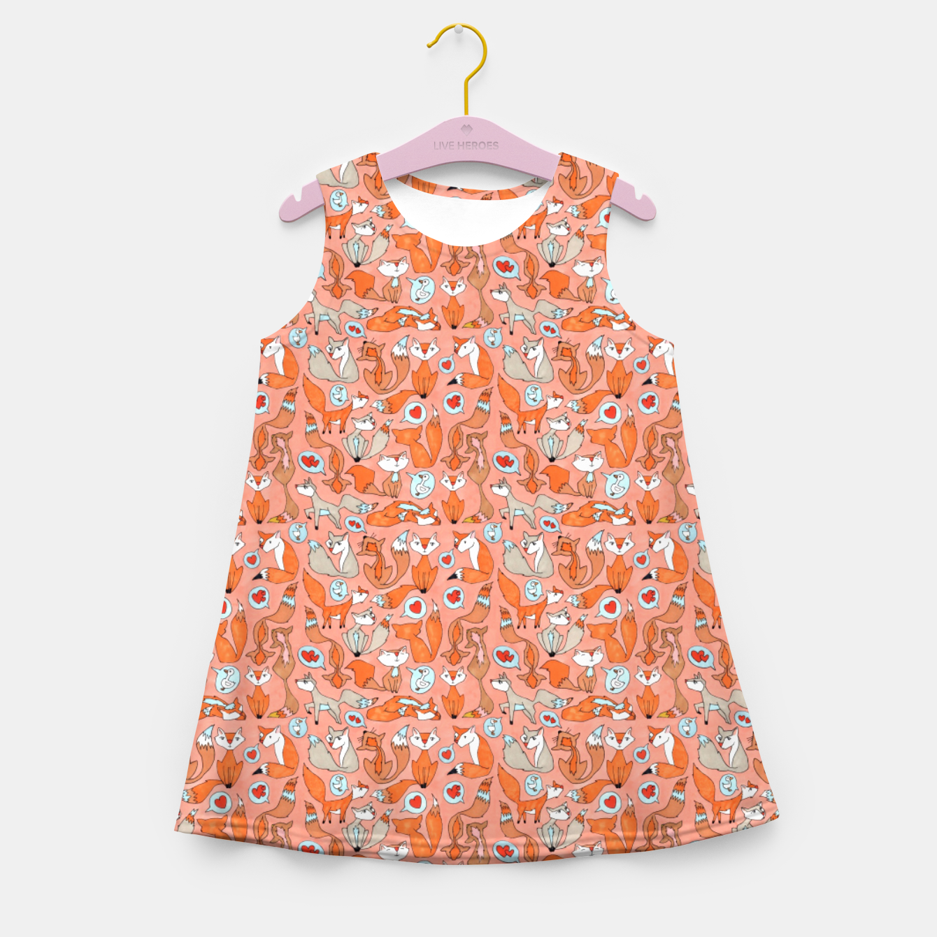 Image of Foxes in Love Girl's summer dress - Live Heroes
