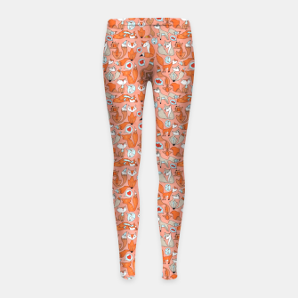 Foxes in Love Girl's leggings thumbnail image