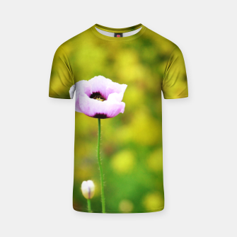 Thumbnail image of Pink poppy Camiseta, Live Heroes