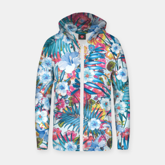 Imagen en miniatura de Flower Happiness Cotton zip up hoodie, Live Heroes