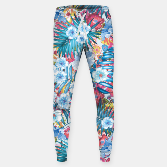 Flower Happiness Cotton sweatpants miniature