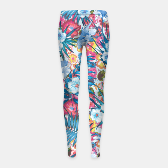 Flower Happiness Girl's leggings miniature